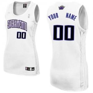 Sacramento Kings Personnalisé Adidas Home Blanc Maillot d'équipe de NBA vente en ligne - Authentic pour Femme