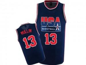 Team USA #13 Nike 2012 Olympic Retro Bleu marin Swingman Maillot d'équipe de NBA pas cher en ligne - Chris Mullin pour Homme
