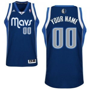 Maillot Adidas Bleu marin Alternate Dallas Mavericks - Swingman Personnalisé - Enfants