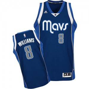 Maillot NBA Dallas Mavericks #8 Deron Williams Bleu marin Adidas Swingman Alternate - Homme