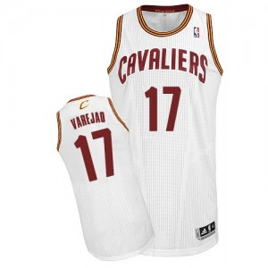 Maillot NBA Cleveland Cavaliers #17 Anderson Varejao Blanc Adidas Authentic Home - Homme