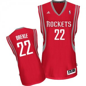Maillot Adidas Rouge Road Swingman Houston Rockets - Clyde Drexler #22 - Homme