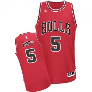 Chicago Bulls Bobby Portis #5 Road Swingman Maillot d'équipe de NBA - Rouge pour Homme