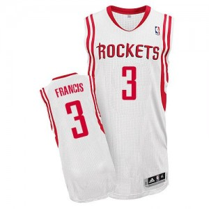 Maillot Adidas Blanc Home Authentic Houston Rockets - Steve Francis #3 - Homme