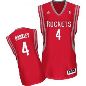 Houston Rockets #4 Adidas Road Rouge Swingman Maillot d'équipe de NBA pas cher - Charles Barkley pour Homme
