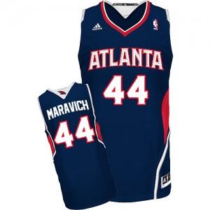 Maillot NBA Atlanta Hawks #44 Pete Maravich Bleu marin Adidas Swingman Road - Homme
