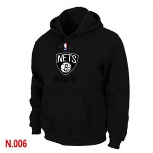 Sweat à capuche Noir Brooklyn Nets - Homme