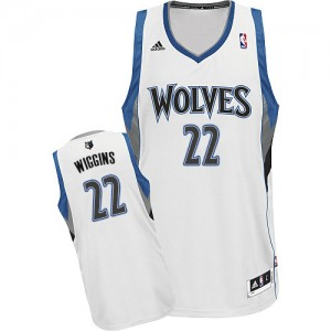 Maillot NBA Minnesota Timberwolves #22 Andrew Wiggins Blanc Adidas Swingman Home - Homme