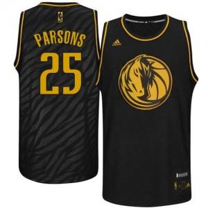 Dallas Mavericks #25 Adidas Precious Metals Fashion Noir Authentic Maillot d'équipe de NBA Magasin d'usine - Chandler Parsons pour Homme