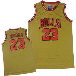 Maillot NBA Or Michael Jordan #23 Chicago Bulls 1997 Throwback Classic Authentic Homme Adidas