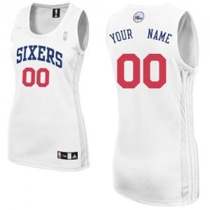 Maillot NBA Blanc Authentic Personnalisé Philadelphia 76ers Home Femme Adidas