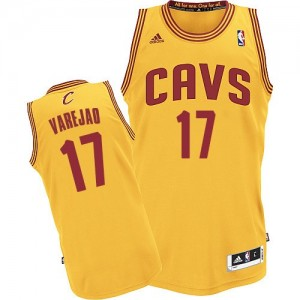 Maillot NBA Or Anderson Varejao #17 Cleveland Cavaliers Alternate Swingman Homme Adidas