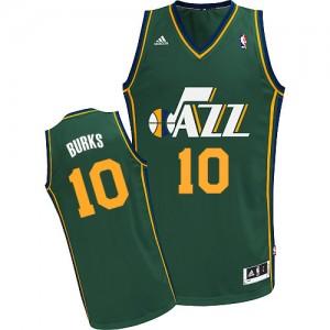 Utah Jazz Alec Burks #10 Alternate Swingman Maillot d'équipe de NBA - Vert pour Homme
