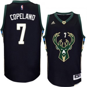 Maillot NBA Milwaukee Bucks #7 Chris Copeland Noir Adidas Authentic Alternate - Homme