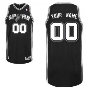 San Antonio Spurs Authentic Personnalisé Road Maillot d'équipe de NBA - Noir pour Enfants