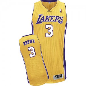 Maillot Adidas Or Home Authentic Los Angeles Lakers - Anthony Brown #3 - Homme