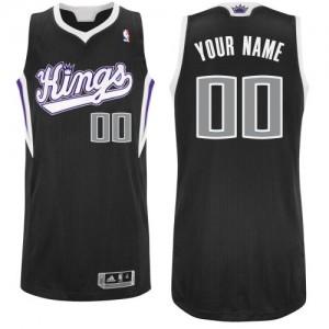 Maillot NBA Sacramento Kings Personnalisé Authentic Noir Adidas Alternate - Homme