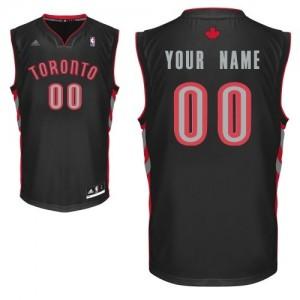 Toronto Raptors Personnalisé Adidas Alternate Noir Maillot d'équipe de NBA Remise - Swingman pour Homme