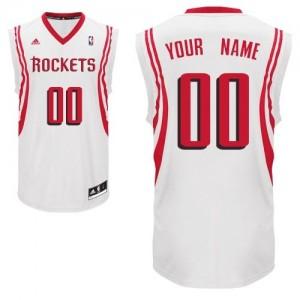 Maillot Houston Rockets NBA Home Blanc - Personnalisé Swingman - Homme