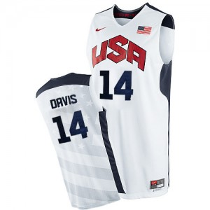 Team USA #14 Nike 2012 Olympics Blanc Authentic Maillot d'équipe de NBA Discount - Anthony Davis pour Homme