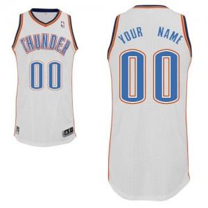 Oklahoma City Thunder Authentic Personnalisé Home Maillot d'équipe de NBA - Blanc pour Homme