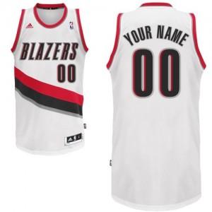 Maillot NBA Blanc Swingman Personnalisé Portland Trail Blazers Home Homme Adidas