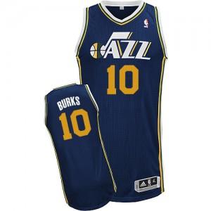 Utah Jazz #10 Adidas Road Bleu marin Authentic Maillot d'équipe de NBA préférentiel - Alec Burks pour Homme