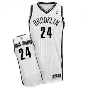 Maillot NBA Authentic Rondae Hollis-Jefferson #24 Brooklyn Nets Home Blanc - Homme