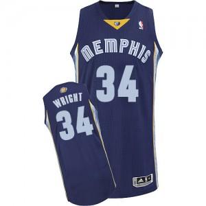 Maillot Authentic Memphis Grizzlies NBA Road Bleu marin - #34 Brandan Wright - Homme