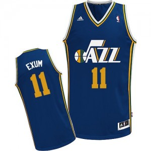 Maillot NBA Swingman Dante Exum #11 Utah Jazz Road Bleu marin - Homme