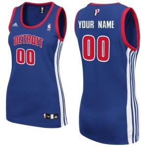 Detroit Pistons Swingman Personnalisé Road Maillot d'équipe de NBA - Bleu royal pour Femme