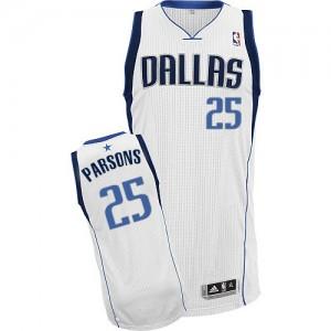 Maillot Adidas Blanc Home Authentic Dallas Mavericks - Chandler Parsons #25 - Homme