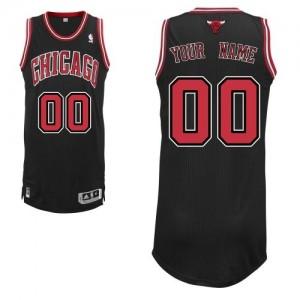 Chicago Bulls Personnalisé Adidas Alternate Noir Maillot d'équipe de NBA Remise - Authentic pour Homme
