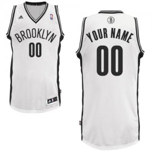 Maillot NBA Blanc Swingman Personnalisé Brooklyn Nets Home Enfants Adidas