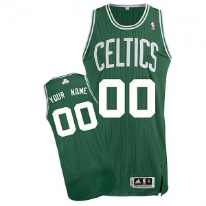 Maillot NBA Boston Celtics Personnalisé Authentic Vert (No Blanc) Adidas Road - Enfants