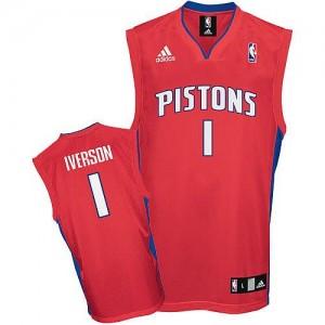 Detroit Pistons Allen Iverson #1 Swingman Maillot d'équipe de NBA - Rouge pour Homme