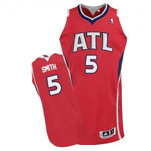 Maillot Authentic Atlanta Hawks NBA Alternate Rouge - #5 Josh Smith - Homme