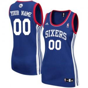 Philadelphia 76ers Personnalisé Adidas Alternate Bleu royal Maillot d'équipe de NBA en soldes - Swingman pour Femme