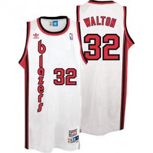 Maillot Adidas Blanc Throwback Swingman Portland Trail Blazers - Bill Walton #32 - Homme