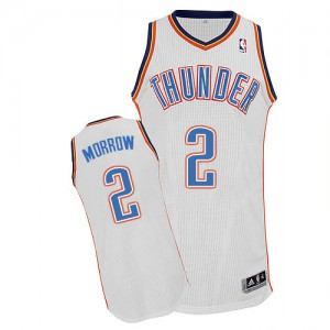 Oklahoma City Thunder Anthony Morrow #2 Home Authentic Maillot d'équipe de NBA - Blanc pour Homme