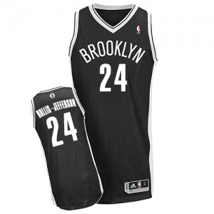 Brooklyn Nets Rondae Hollis-Jefferson #24 Road Authentic Maillot d'équipe de NBA - Noir pour Homme