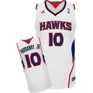 Maillot NBA Blanc Tim Hardaway Jr. #10 Atlanta Hawks Home Swingman Homme Adidas