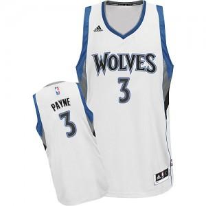 Minnesota Timberwolves Adreian Payne #3 Home Swingman Maillot d'équipe de NBA - Blanc pour Homme