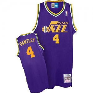Utah Jazz Adrian Dantley #4 Throwback Authentic Maillot d'équipe de NBA - Violet pour Homme