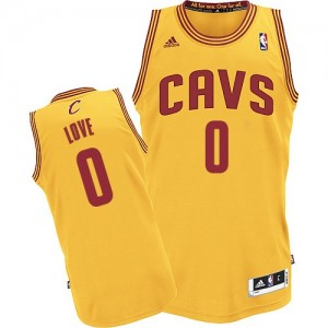 Maillot Adidas Or Alternate Swingman Cleveland Cavaliers - Kevin Love #0 - Enfants