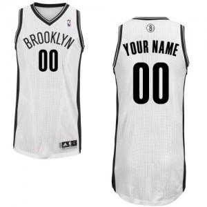 Brooklyn Nets Authentic Personnalisé Home Maillot d'équipe de NBA - Blanc pour Enfants