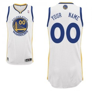 Maillot NBA Golden State Warriors Personnalisé Authentic Blanc Adidas Home - Homme