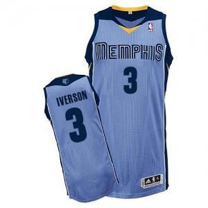 Maillot Authentic Memphis Grizzlies NBA Alternate Bleu clair - #3 Allen Iverson - Homme