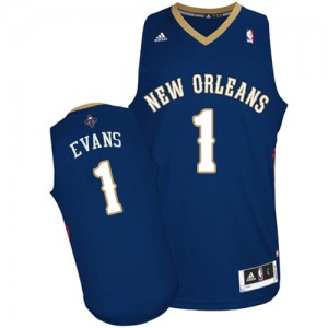 Maillot NBA Swingman Tyreke Evans #1 New Orleans Pelicans Road Bleu marin - Homme
