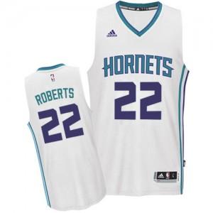 Charlotte Hornets #22 Adidas Home Blanc Swingman Maillot d'équipe de NBA prix d'usine en ligne - Brian Roberts pour Homme